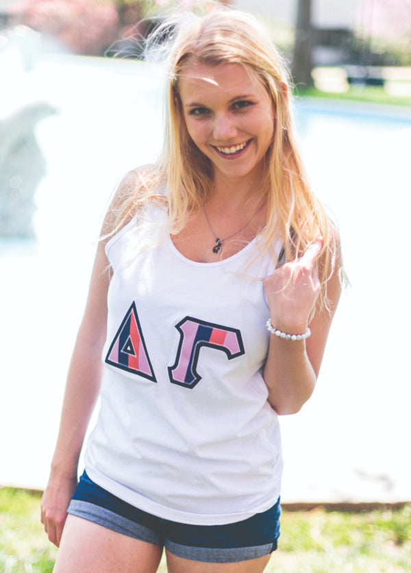 Hit the Deck Block Letter Tank - Hannah's Closet - The Official Boutique for Delta Gamma