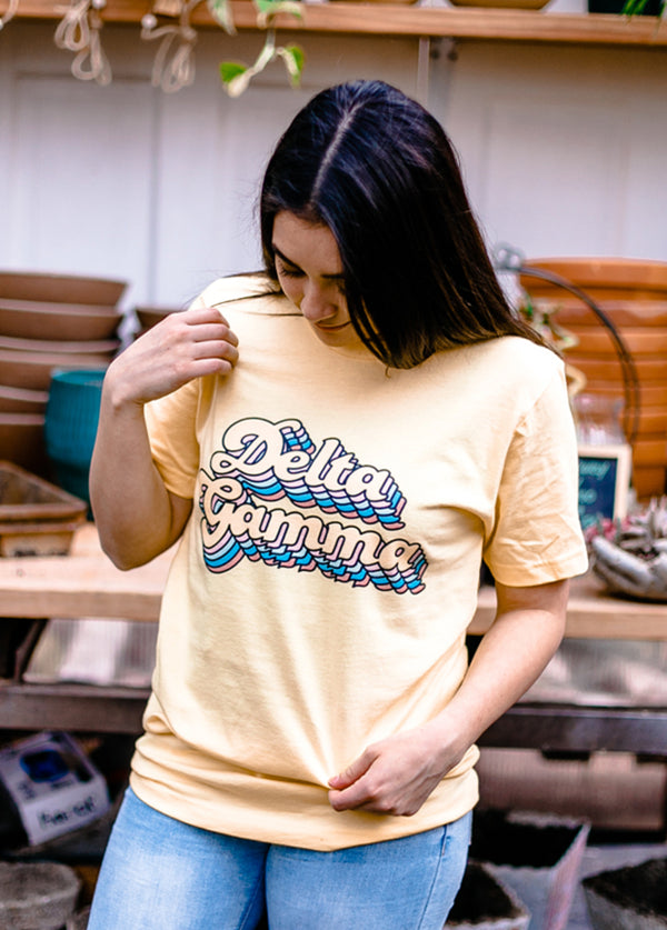 Stacked Up Tee - Hannah's Closet - The Official Boutique for Delta Gamma