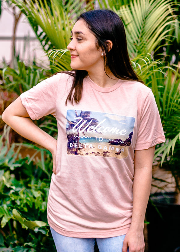 Welcome Delta Gamma Tee - Hannah's Closet - The Official Boutique for Delta Gamma