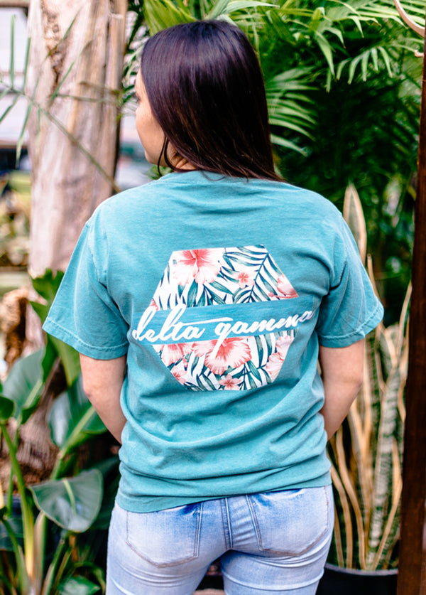 Hibiscus Tee - Hannah's Closet - The Official Boutique for Delta Gamma