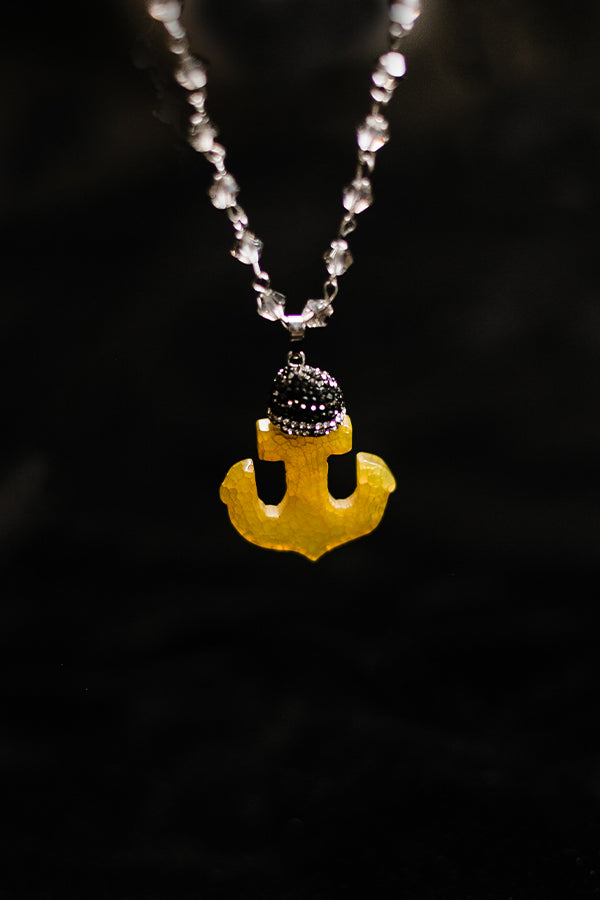 Gold Agate Anchor Necklace - Hannah's Closet - The Official Boutique for Delta Gamma