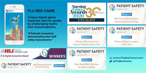 Flu Bee Game wins Best Emerging Solution For Patient Safety at 2020 Patient Safety Awards