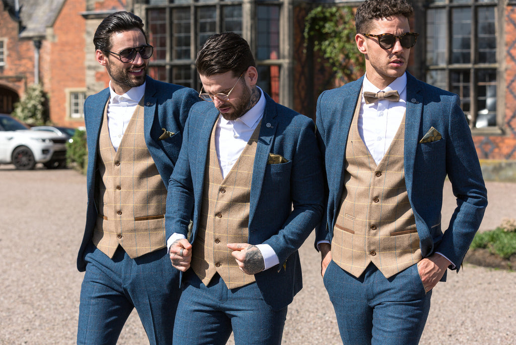 Men wearing Marc Darcy Suits