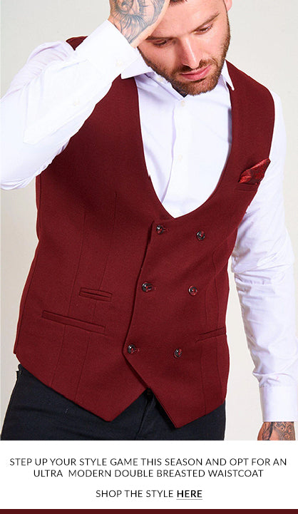 marc darcy mens double breasted waistcoat