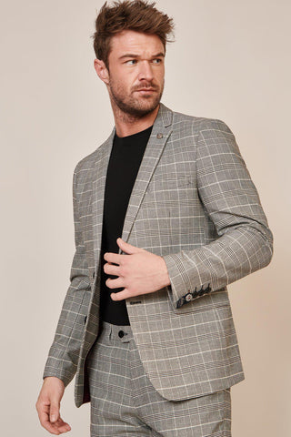 ROSS - Grey Check Blazer