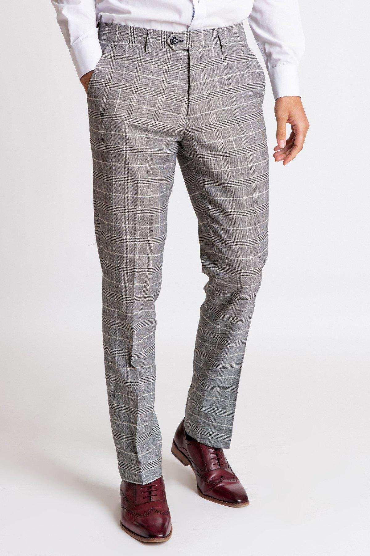 ROSS - Grey Check Trousers