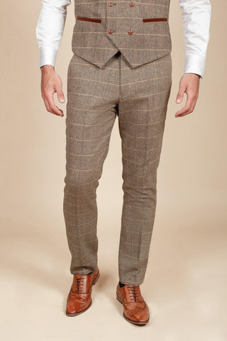 TED - Tan Tweed Check Trousers
