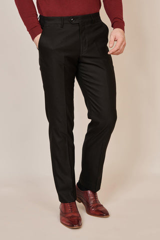 DANNY - Black Tailored Trousers