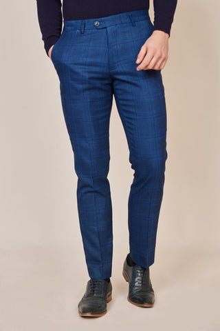 JERRY - Blue Check Trousers
