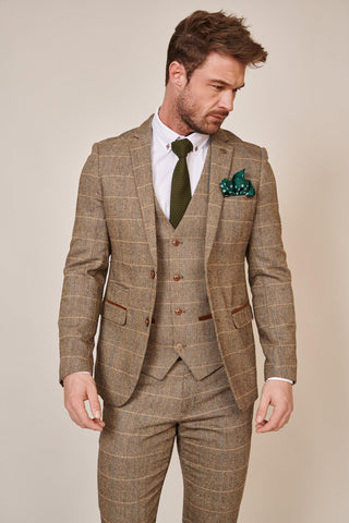 TED - Tan Tweed Check Blazer