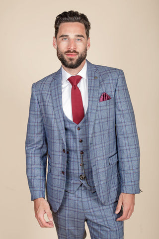 ABBOTT - Blue Tweed Check Blazer
