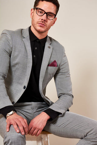 BEN - Silver Grey Notch Lapel Blazer