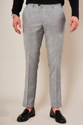 BEN - Silver Grey Slim Tailored Trousers