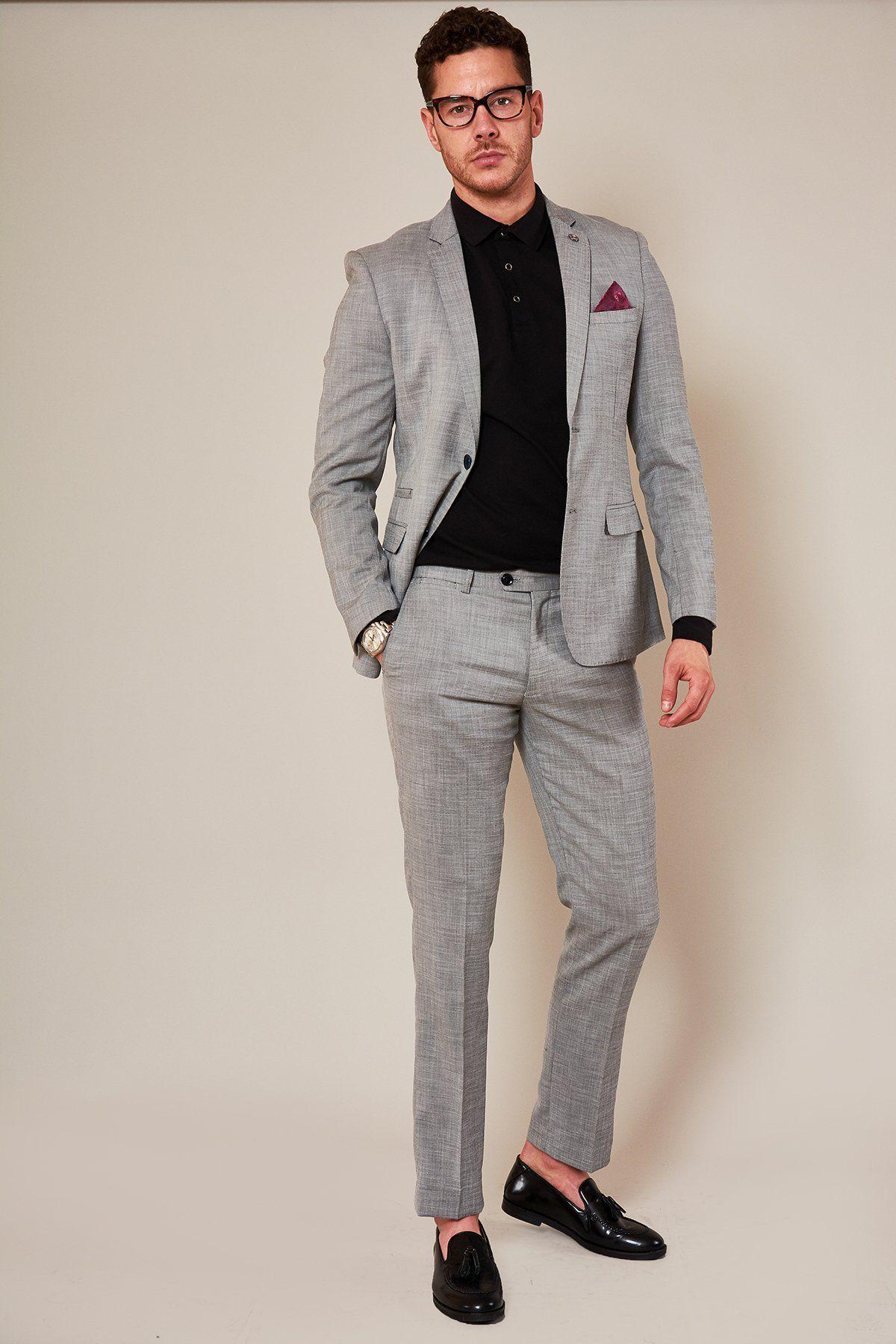 Ben Silver Grey Two Piece Suit By Award Winning Menswear Designer Marc Darcy