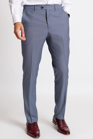 DANNY - Blue Grey Tailored Trousers