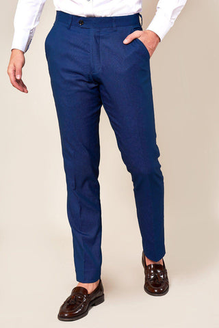 DANNY - Royal Blue Tailored Trousers
