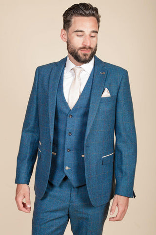 DION - Blue Tweed Check Blazer