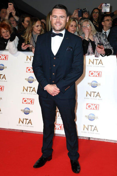 Emmerdale Star Danny Miller in Max Navy Suit