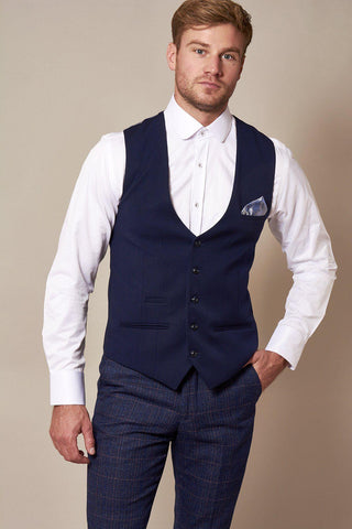 KELLY - Royal Blue Single Breasted Waistcoat