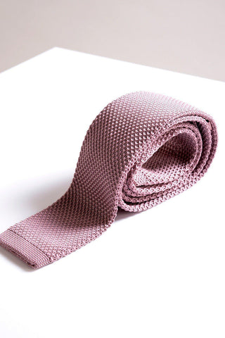 KT - Blush Pink Knitted Tie