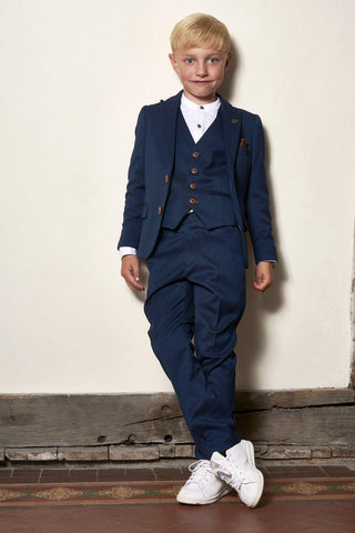 MAX - Childrens Royal Blue Three Piece Suit