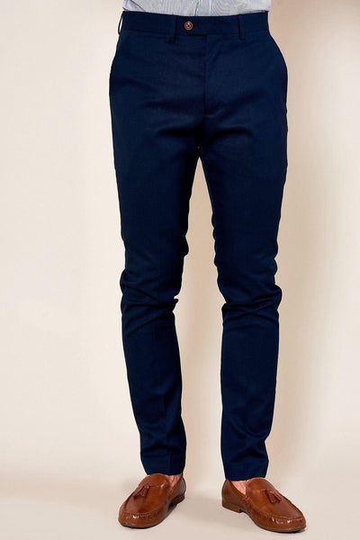 MAX - Skinny Fit Navy Trousers