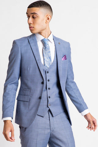 SID - Blue Grey Check Blazer