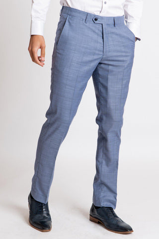 SID - Blue Grey Check Trousers