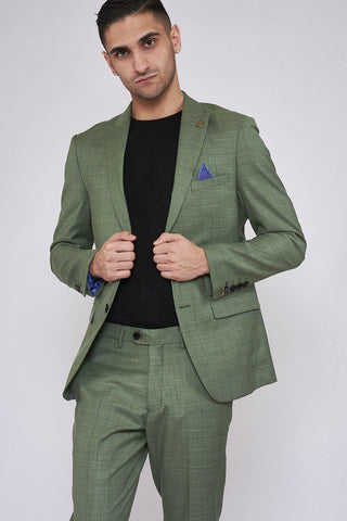 SID - Moss Green Check Blazer