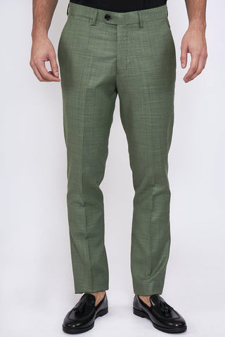 SID - Moss Green Check Trousers
