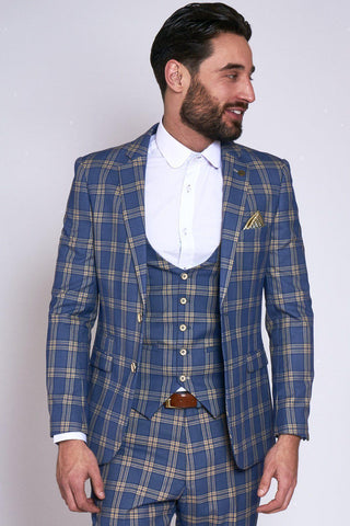 TONY - Blue Yellow Check Blazer