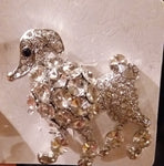 Diamond Poodle Brooch