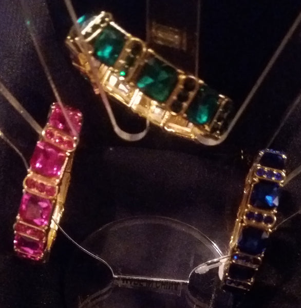 Pink or Green or Blue Crystal Bracelet