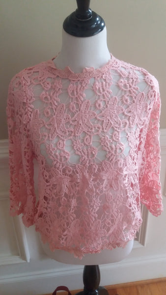 Pink Lovely Lace Top