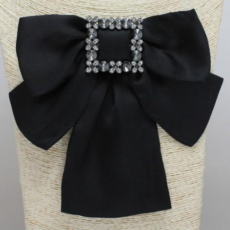 Black Bow Brooch