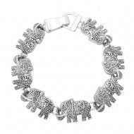 Antique Silver Elephant Magnetic Bracelet