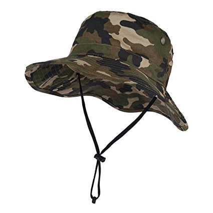 Camouflage Bucket Mesh Boonie Hat Hunting Cap