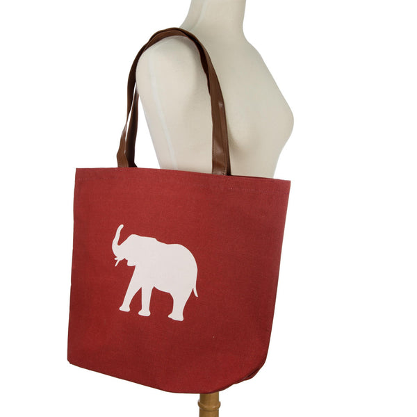 RED WHITE Elephant  Tote Bag