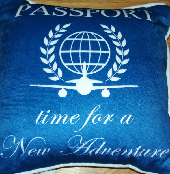 "Royal Blue Chic Travel ""Passport Pillow"""
