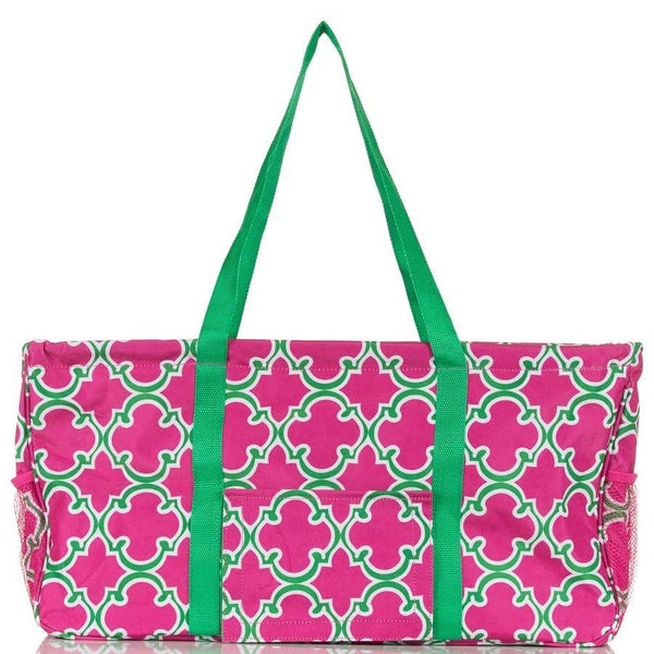 Pink Green All Purpose Large Utlilty Bag