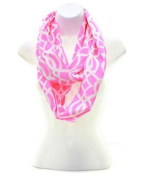 Pink Vine Infinity Scarf