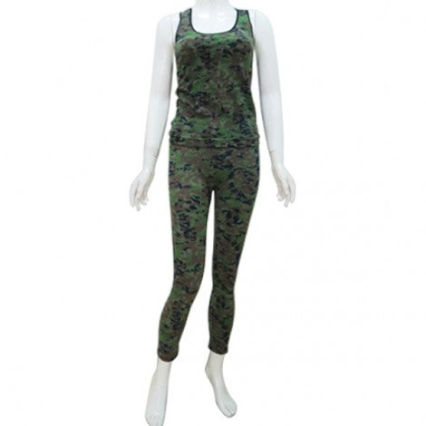 Camouflage Work-Out Apparel