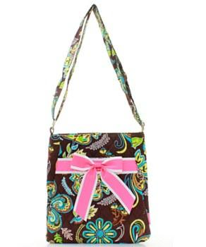Hot Pink Paisley Messenger Bag