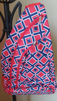 Red & Blue Over the Shoulder Sling Pack (matching item available)