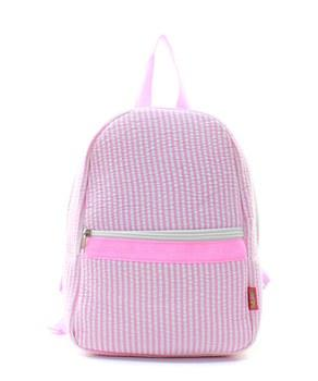 Pink Seersucker Mini Backpack
