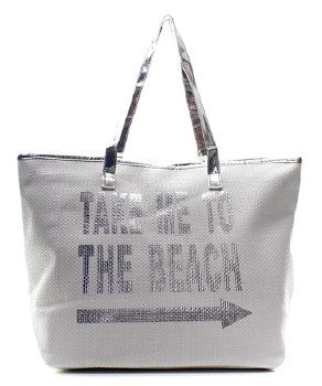 'Take Me To The Beach' Tote Bag