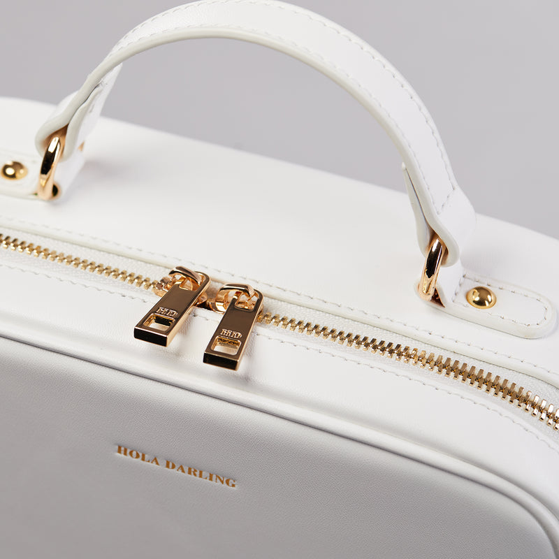 Carli leather crossbody bag-crossbody bag-luxury bag-leather crossbody bag-white leather crossbody bag-leather bag-crossbody bag-white crossbody bag-shoulder bag-mini bag