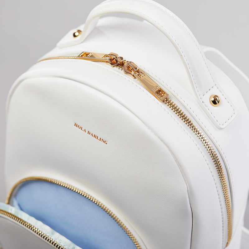 Gigi leather backpack-backpack-luxury bag-leather backpack-white leather backpack-leather bag-backpack-white backpack