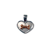 Dog Bone on Your Heart Pendant
