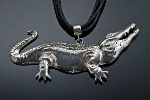 Sterling Silver Alligator Necklace